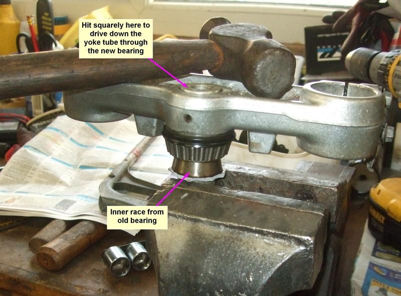 TTR250 steering head bearing replacement